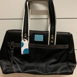 Coach zippered bag